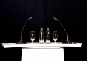 Ein Rednerpult - Für Glossophobiker ein Graus