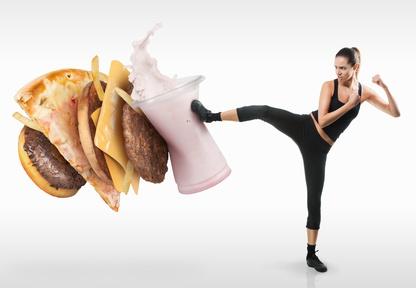Crash-Diät und Bewegung