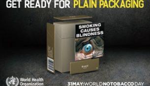 WHO-Plakat zum Welt-Nichtrauchertag 2016