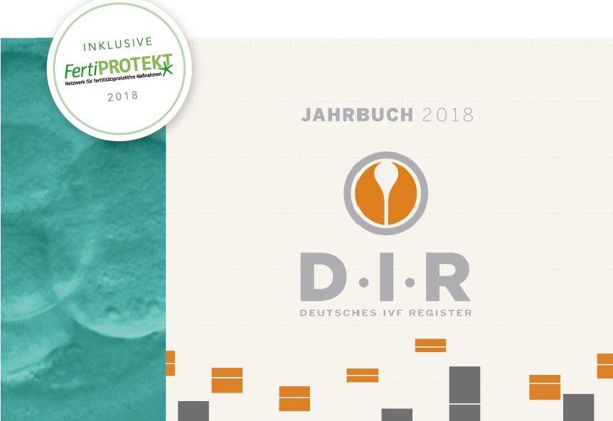 Auszug Titelseite Jahrbuch 2018 des Deutschen IVF-Registers (D·I·R)
