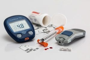 Diabetes: Blutzuckermessung, Insulinspritze